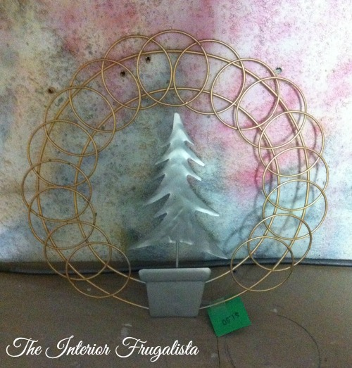 Metal Greeting Card Holder for Burlap Holiday Wreath