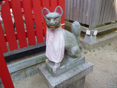 富島稲荷社狛犬