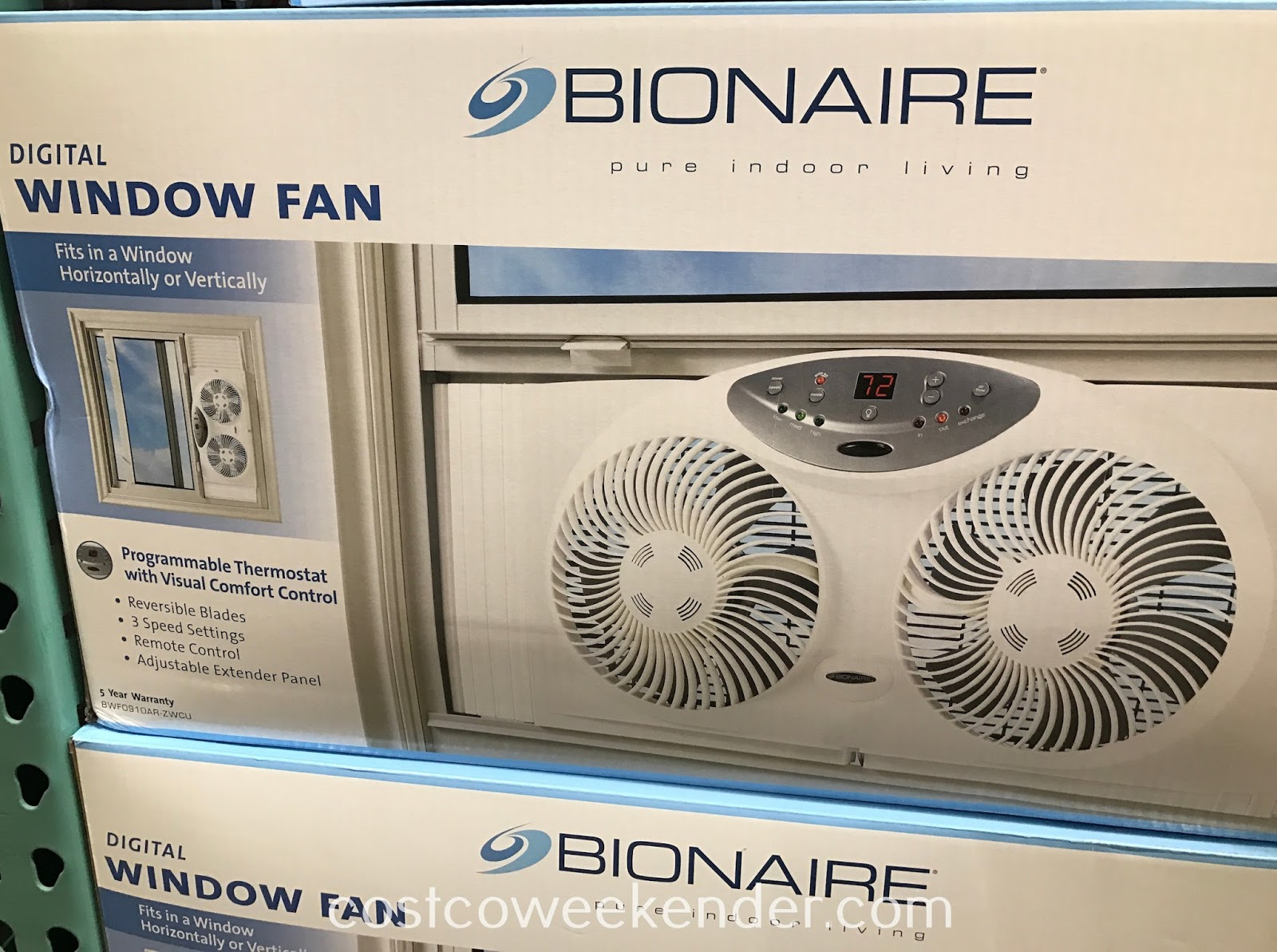 Prevent your home from being a hot box with the Bionaire Digital Twin Window Fan