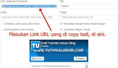Cara Membuat Widget Halaman/Fanspage Facebook Di Blog