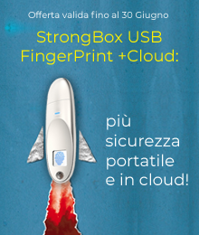OFFERTA STRONGBOX USB FINGERPRINT