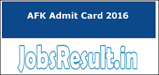 AFK Admit Card 2016