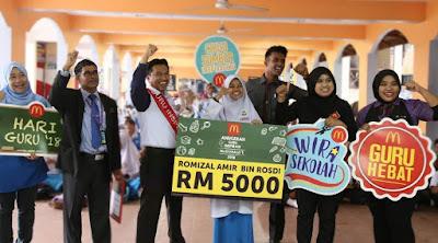 Cikgu Romie penerima Anugerah Guru Inspirasi McDonald's 2018