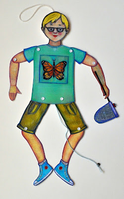 Vicki Smith Art: Jumping Jack with Butterfly Net