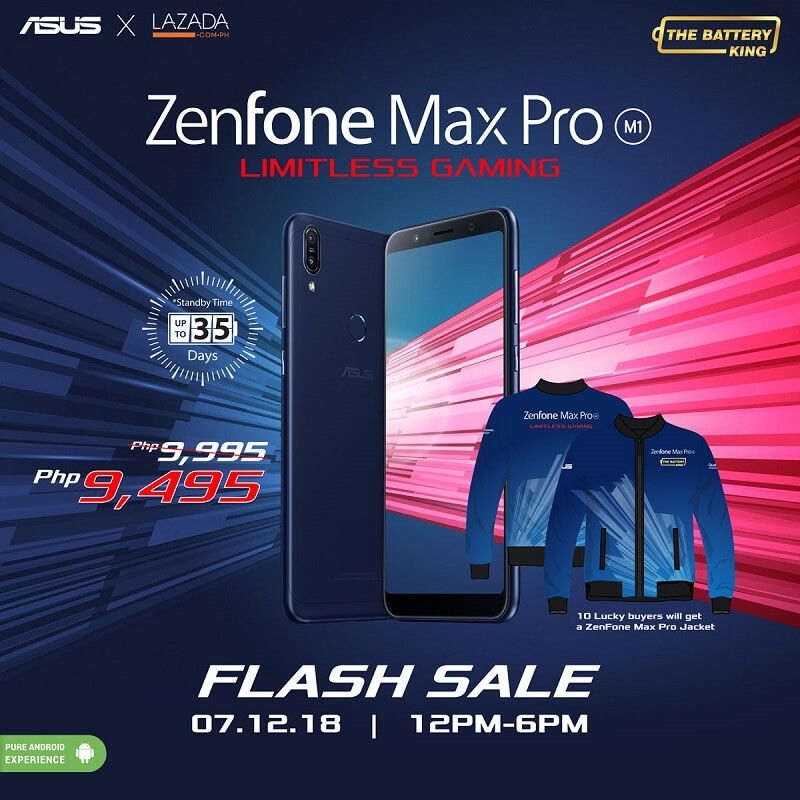 Lazada to Flash ASUS ZenFone Max Pro for only Php9,495!