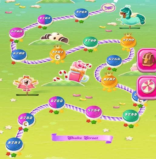 Candy Crush Saga level 5751-5765