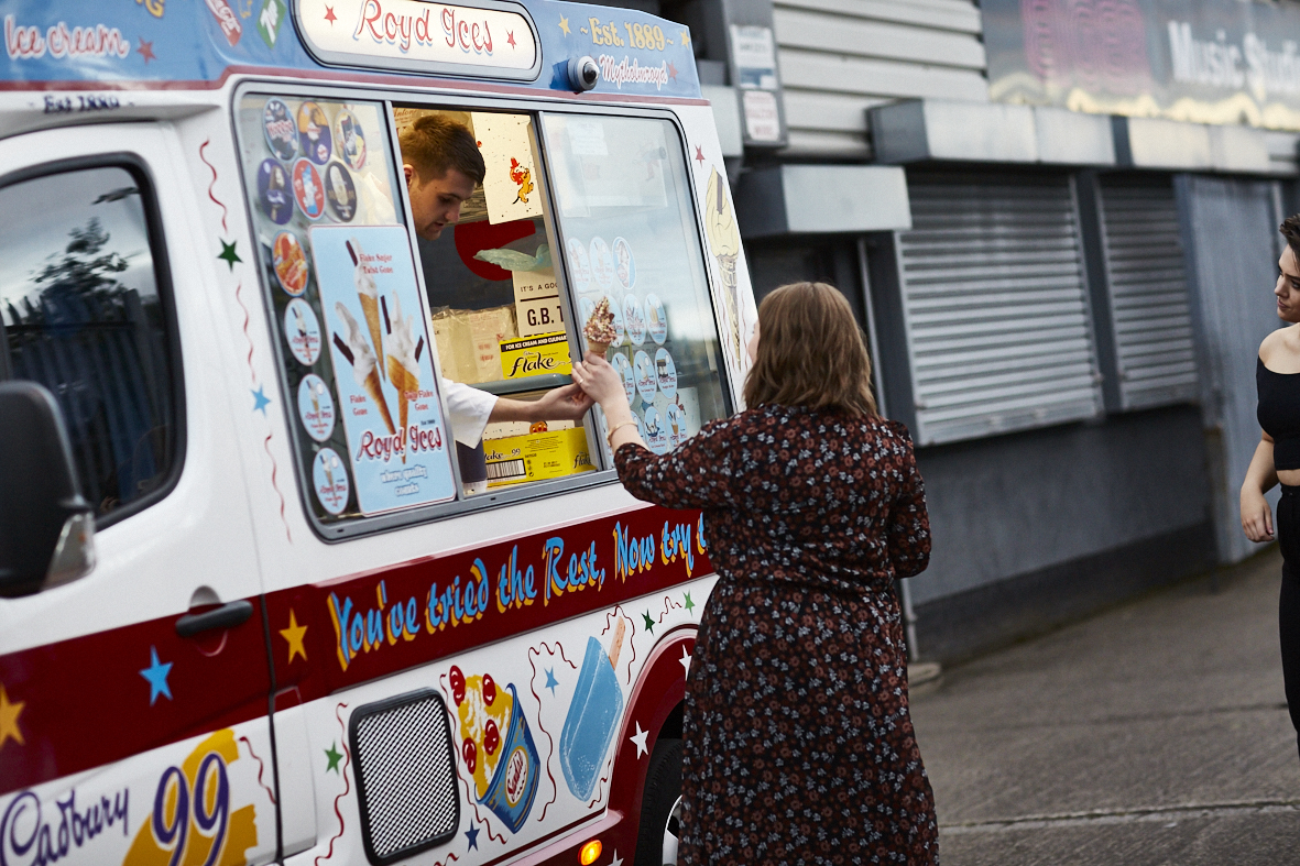 Ice cream van at the La Redoute Summer Party
