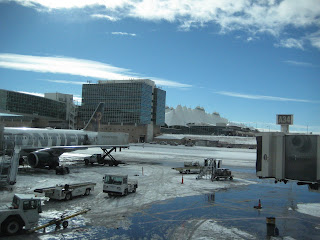 Snowy Denver Airport