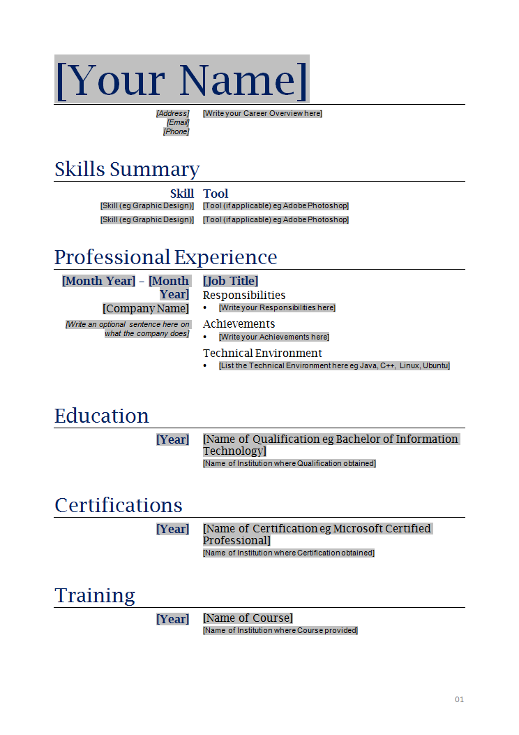 How to make resume example