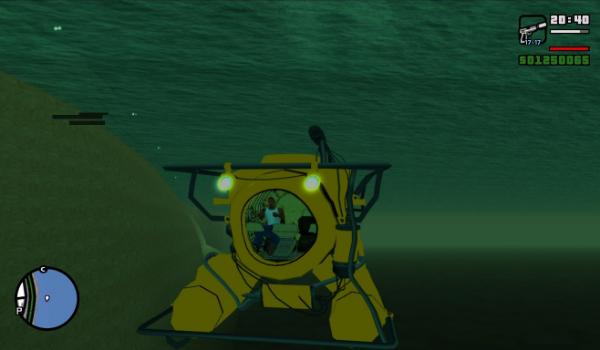 مود الغواصة للعبة جتا سان اندريس