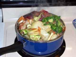 Veggie Stock boiling