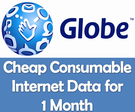 Cheapest Consumable Internet for 30 Days (Globe)