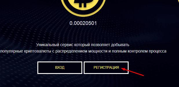 Регистрация в Mining-x100