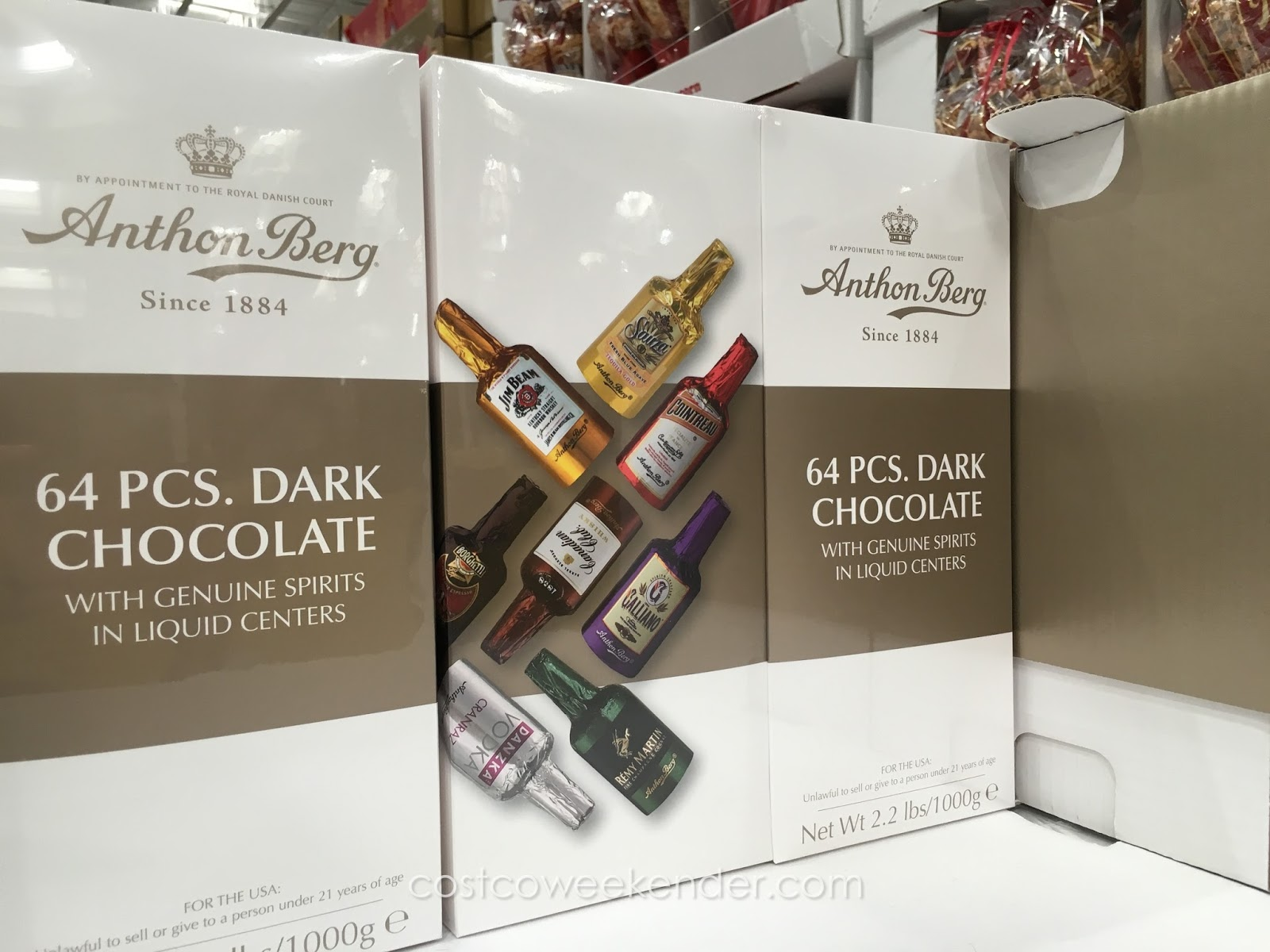 Anthon Berg Dark Chocolate Liqueurs 64 Pc Costco Weekender