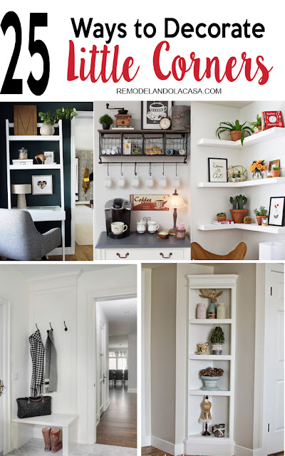 how to bring decor and organization to little corners of your home