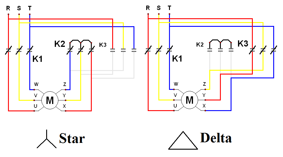 tt star delta wiring diagram electrical blog delta wiring diagram at mifinder.co