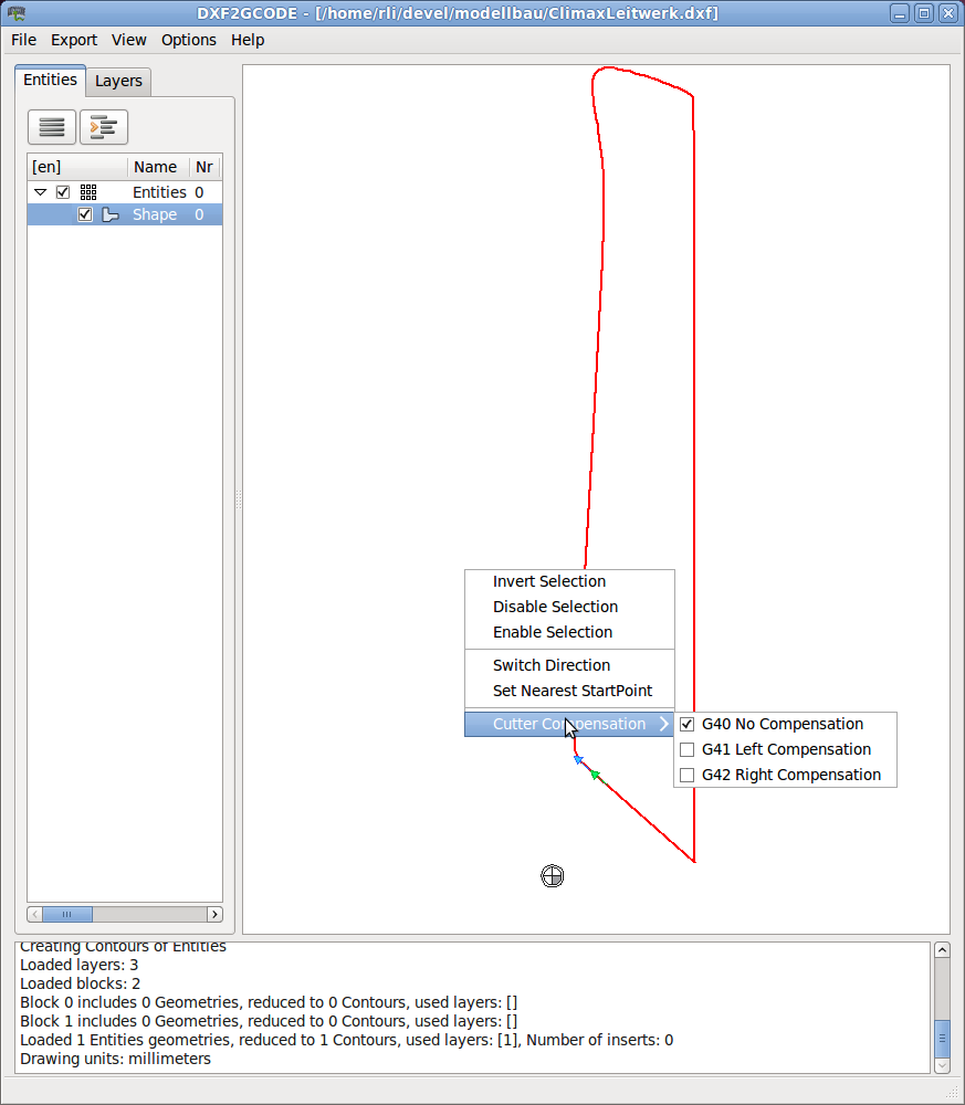 Download DXF 2 G-Code last version - downhfile