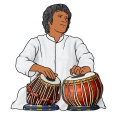 タブラとバヤ tabla and baya インドの太鼓