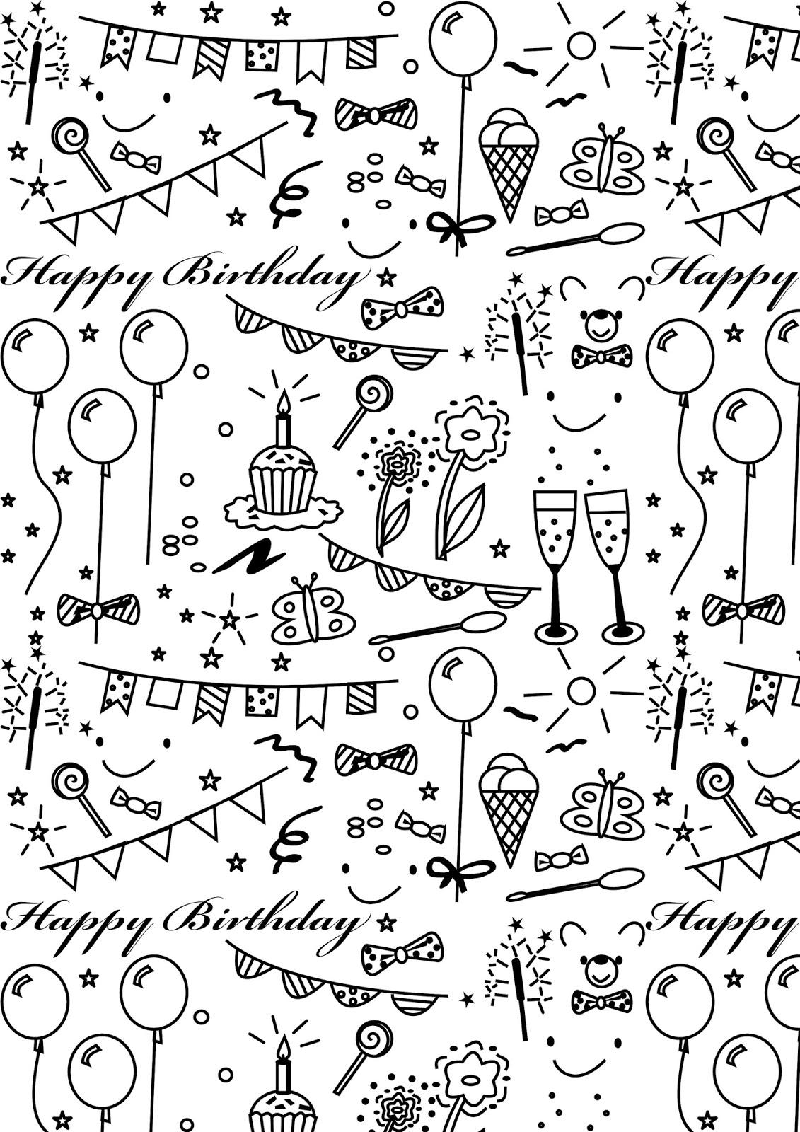Free Printable Birthday Coloring Paper