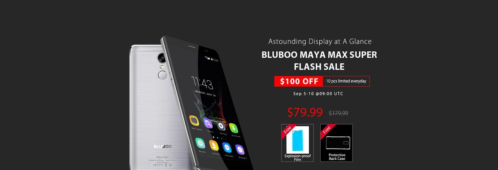 Bluboo Maya Max prezzo scontato di 100$ fino al 10 Settembre: le caratteristiche
