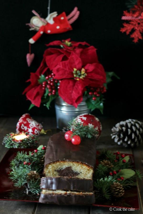cake de vainilla, bizcocho con sorpresa