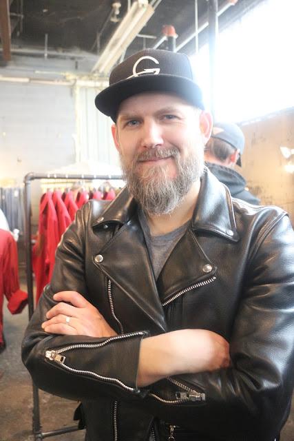 chris logsdon of godspeedco in motorcycle leather jacket