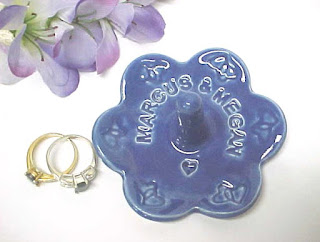 Beautiful COBALT BLUE Ring Holder