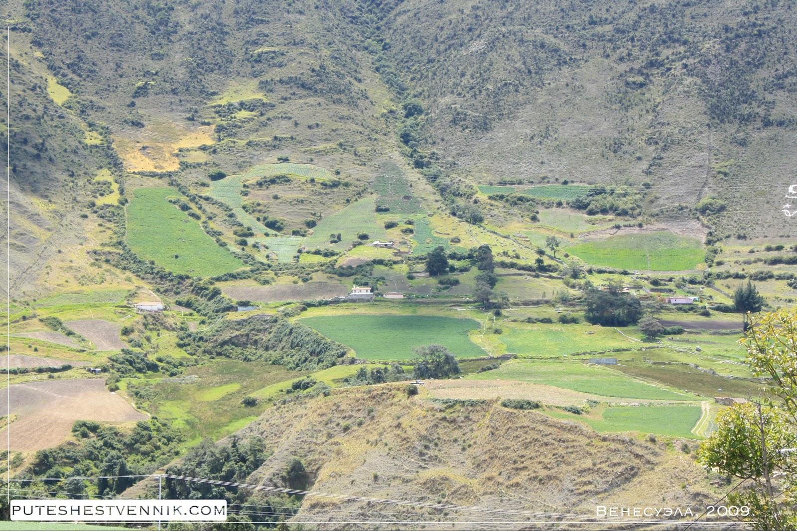 Хутор у склона горы в Венесуэле