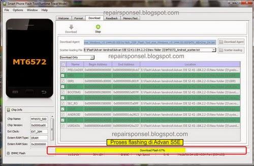 Flash Ulang Advan S5J dengan SP Flash Tool