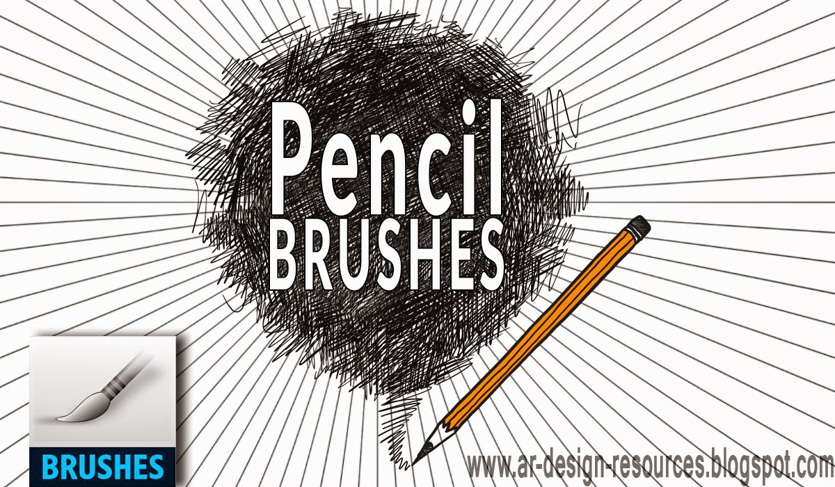 20 Free Pencil Photoshop brushes — Photoshop Add-ons