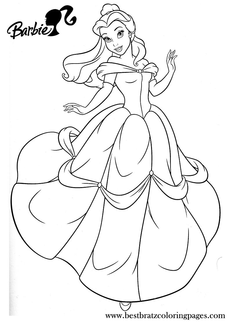coloring pages princess barbie - photo#13