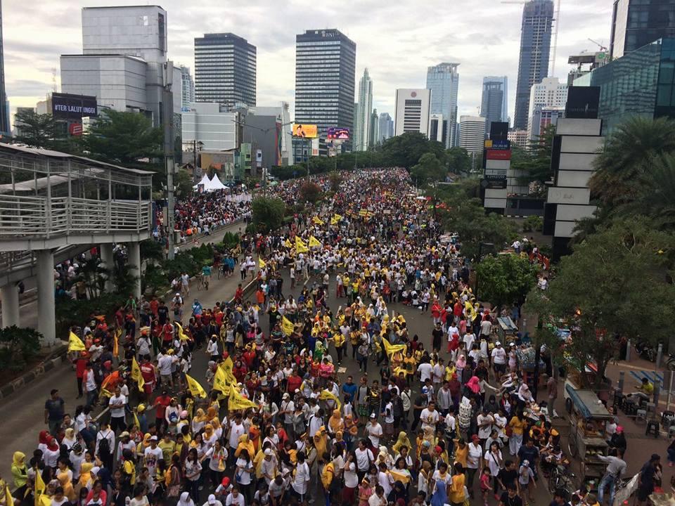 Parade Bhinneka Tunggal Ika Di HI Langgar Aturan Karena Bawa Atribut Partai, Ini Sikap Surya paloh