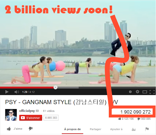 Gangnam Style is about to reach the 2 billion views mark!
