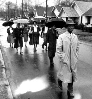 Photo: Montgomery Buss Boycott in the rain