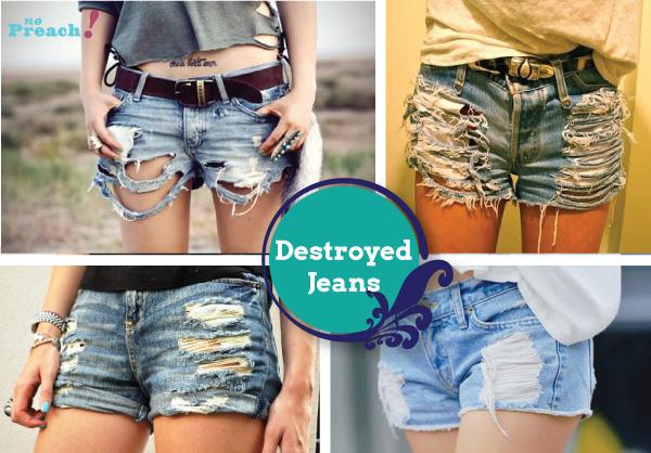 destroyed - rasgado - puido - desgastado - shorts jeans diy - do it  yourself - 31fffb04add