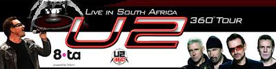U2 360 Tour Cape Town en directo por radio
