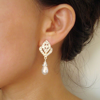awesome bridal drop earrings