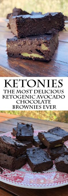 Ketonies – The Most Delicious Ketogenic Avocado Chocolate Brownies Ever