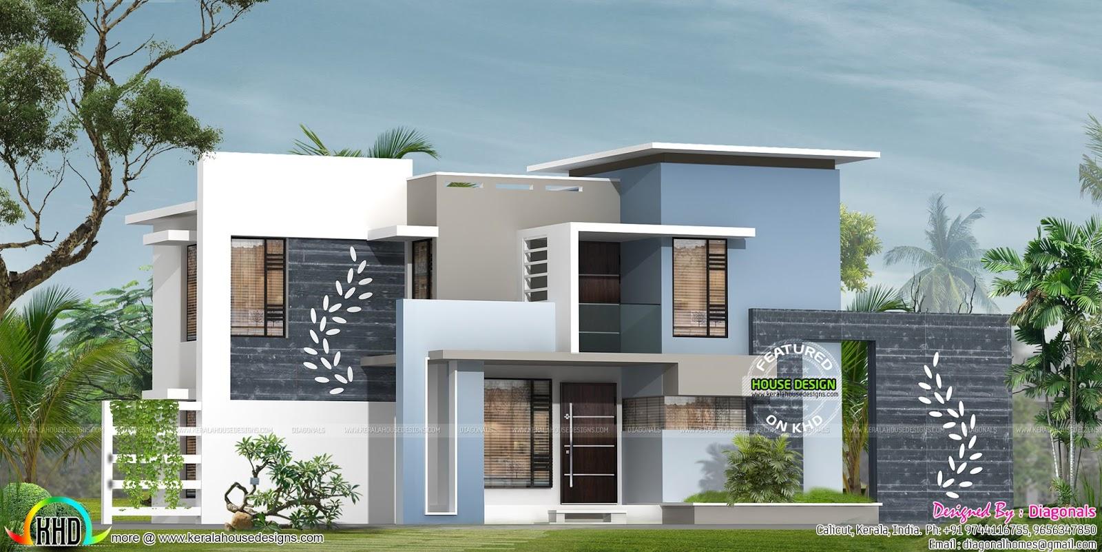 Designer Home Contemporary Flat Roof Kerala Home Design Bloglovin'