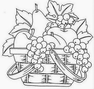 Desenhos De Cestas Com Frutas Para Colorir Formando Alunos