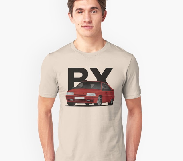 Citroen BX GTi t-shirt - red