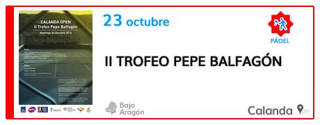II Trofeo Pepe Balfagón en Calanda