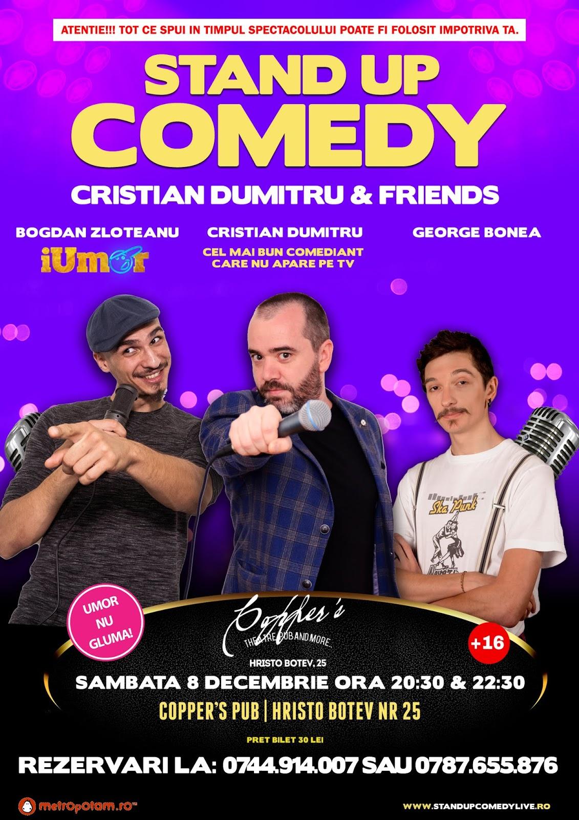 Stand-Up Comedy Bucuresti Sambata 8 Decembrie