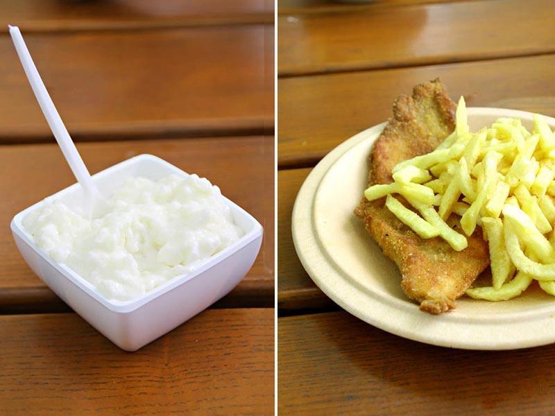 Playmobil Food, milchreis, schnitzel, pomme frites