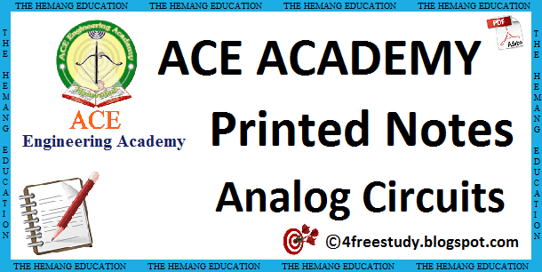 Ace Academy Analog Circuits Printed Class Notes The Free