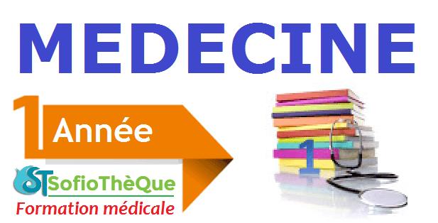 Les cours de la 1ère année médecine