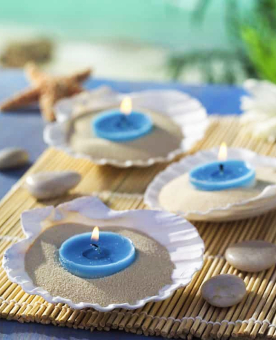 Seashell Votive Candle Idea