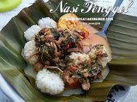 Makanan Khas Kebumen Nasi Penggel dibuat dengan Cinta