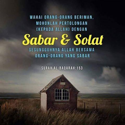 Image result for sabar dan solat