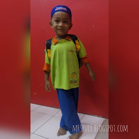 Airiel Qaid 1st day of School